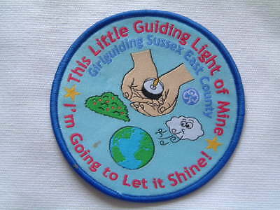 "Girl Guide ""girlguiding Sussex East County"" Cloth Badge"