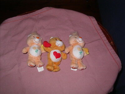 Three Small Collectable Care Bears Mcdonalds 2004