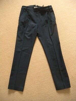 GAP navy blue wool blend tailored trousers cinch-back Size S/ UK 8-10