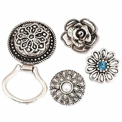 BMC Interchangeable Snap Centerpiece Eye Glass Holding Magnetic Brooch Set 2