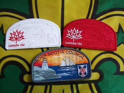 Scouts Canada  NSCouncil coloured  Ghost and Blood Badges