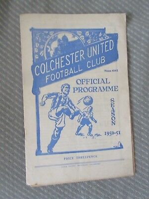 1950-51 Colchester v Norwich  Third Division South  U's first League season