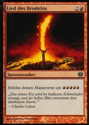 Lied des Brodelns FOIL / Seething Song   NM   9th Edition   GER   Magic MTG