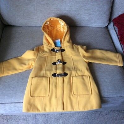 Brand New With Tags John Lewis yellow girls duffle coat 18-24months