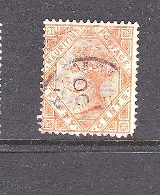 Mauritius SG111 QV 50c Orange, Good Used