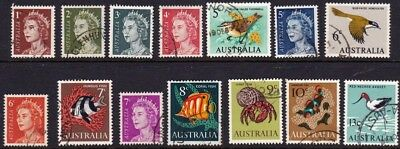 Australia 1966 Definitives Set, Fine Used (25)