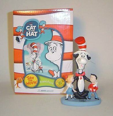 Dr Seuss Cat In The Hat Mini Bobble head Figure New in Box Free Shipping
