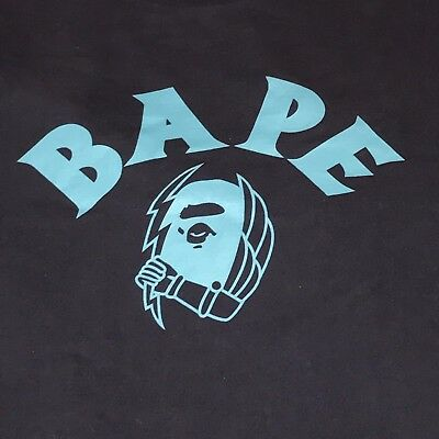 c52c5f39 PRE-OWNED BAPE A Bathing Ape Studs Face Logo T Shirt White Large ...