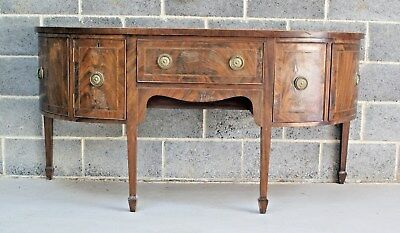 Georgian Table Mahogany Breakfront Sideboard Antique Multi Drawer Cupboards