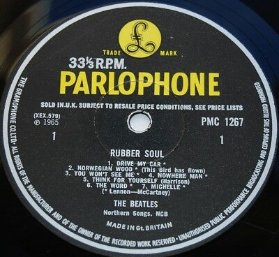BEATLES 1965 Original Mono 1st Press UK Parlophone LP - Rubber Soul - LOUD CUT