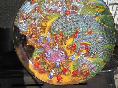 Bill Bell A Purrfect Harvest HA745 Franklin Mint Collectible Plate Heirloom Cats