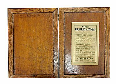 * Antique * Office Copier * Moyer (Lawton Style) Gel Duplicator Or Hectograph *