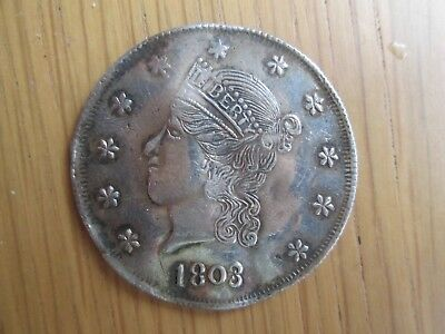 1803 liberty head USA gaming token silvered coin.US American