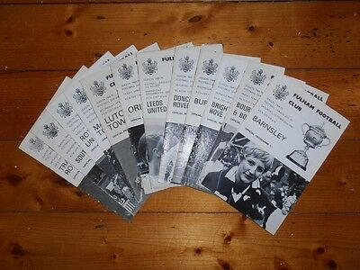 1969-70 FULHAM FC HOME FOOTBALL PROGRAMMES - Your choice - FREE Postage