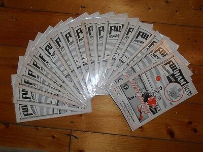 1960-61 FULHAM FC HOME FOOTBALL PROGRAMMES - Your choice - FREE Postage