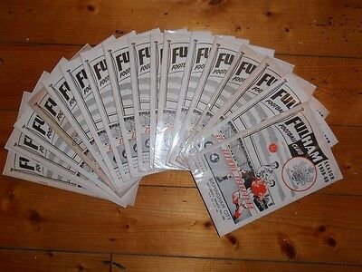 1959-60 FULHAM FC HOME FOOTBALL PROGRAMMES - Your choice - FREE Postage