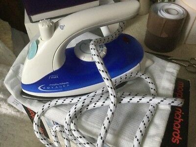Morphy Richards Steam Travel Iron - Carry bag, instructions and filler cup