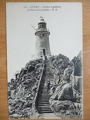 Jersey Channel Islands Corbiere Lighthouse  By Louis Levy Ll 181