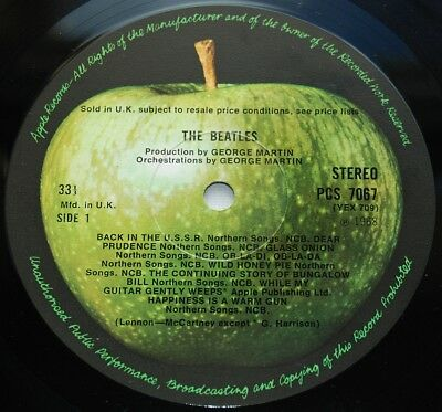BEATLES 1968 STEREO UK Apple Double LP - White Album - 100% COMPLETE W/ SPACER