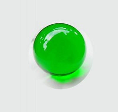 5X 49mm Green Crystal Sphere Balls w/Case
