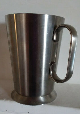 OLD HALL RETRO 60s 70s Vintage Tankard MUG Footed 18/8 STAINLESS STEEL VGC