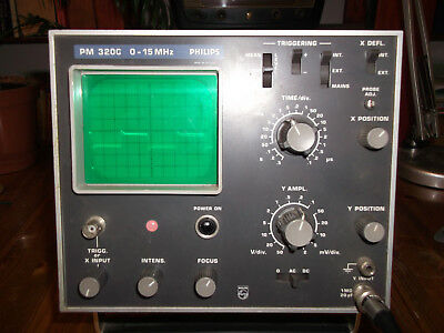 PHILIPS PM3200 Oscilloscope + Probes + Service Manual +