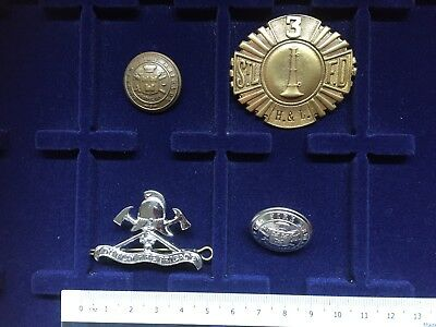 Dublin Fire Brigade Ireland Button & Cap Badge 1916
