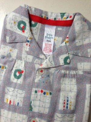 Baby Boden Grey Christmas Baby Suit sleepsuit Pajamas Age 3-6 months