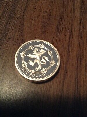 1994 Silver Proof Piedfort Lion Rampant Of Scotland  £1 coin in case