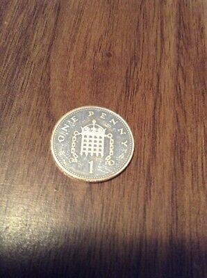 Silver Proof 1p Coin 1996 Mint Condition