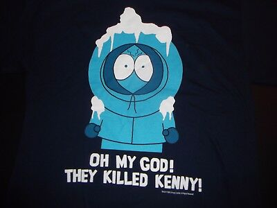 South Park Oh My God They Killed Kenny You Bastards Tee Shirt 1998 LG VTG EUC