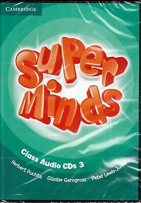 Cambridge SUPER MINDS Level 3 ENGLISH COURSE Class Audio CD's @BRAND NEW@