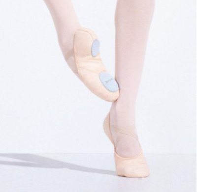 Free shipping Adult CAPEZIO JULIET Canvas Split-Sole Ballet Shoes size 5M pink