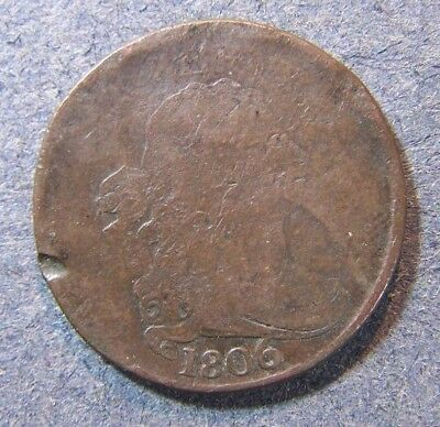 1806 US Half Cent Draped Bust1/2c No Reserve Fast Free Shipping
