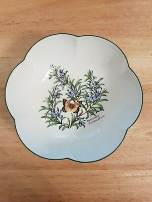 Royal Worcester Herbs Round scalloped dish bowl with box
