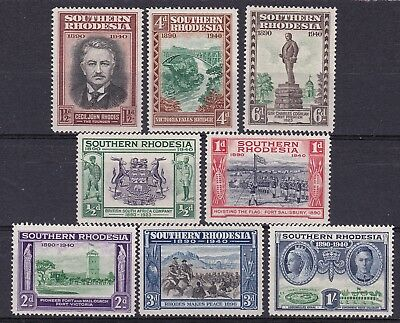 Southern Rhodesia 1940  set of 8 mint hinged