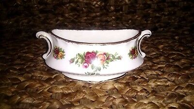 Royal Albert Old Country Roses Mustard Pot. Made in England