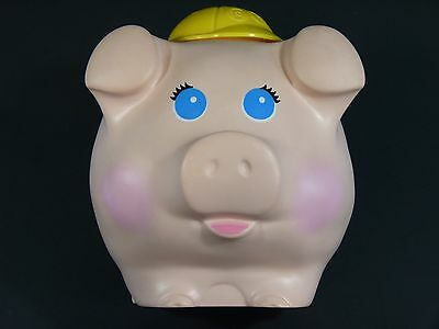 Fisher Price #166 Pig Piggy Coin Bank, 1980, Made in USA