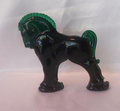 Longaberger Heisey By Mosser Clydesdale Horse - Emerald Green