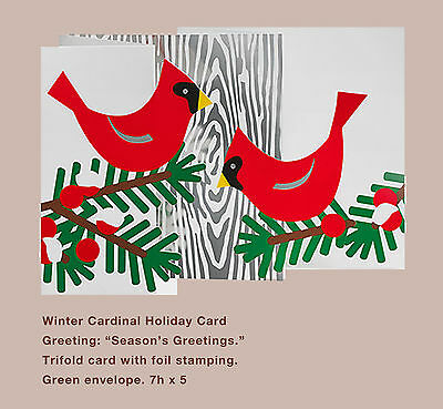 Moma christmas cards holiday cards holiday cardinal 88752 qty moma christmas holiday card winter cardinal m4hsunfo Image collections