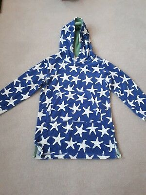 Mini Boden Boys towelling beach/swimming cover up age 5-6