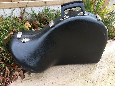 House Clearance Barn Find Classic Rare Tuba Musical Instrument Storage Hard Case