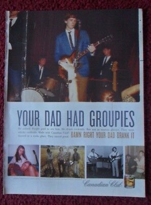 2008 Print Ad Canadian Club Whiskey ~ Vintage Dad Photos He Had Groupies