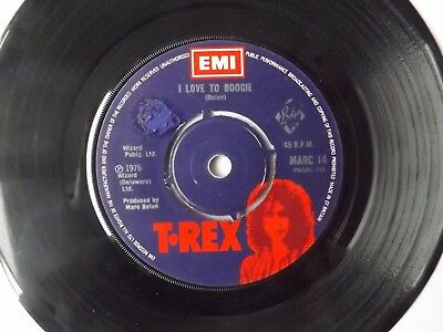 MARC BOLAN T. REX 7 inch SINGLE I LOVE TO BOOGIE