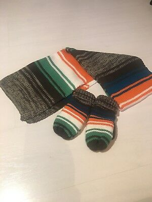Toddler Boys Scarf & Mittens Set - Age 3-4
