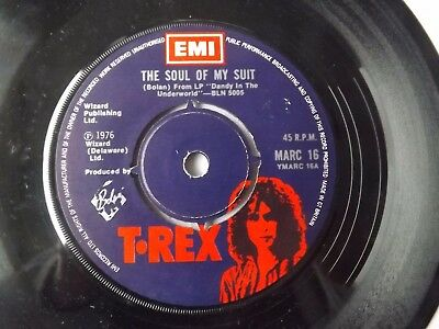 MARC BOLAN T. REX 7 inch SINGLE SOUL OF MY SUIT
