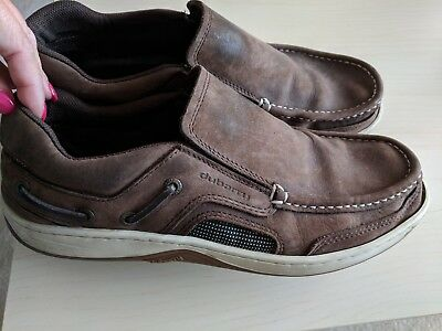 Dubarry mens brown leather deck shoes size 9