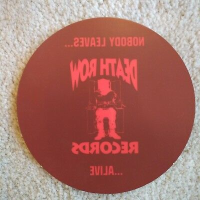"""Death Row Records 5"""" Promotional Window Sticker Decal Rap Hip Hop 2 Pac"""
