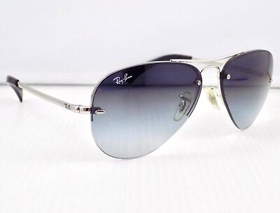 Ray Ban Semi Rimless Highstreet Aviator Gradient RB3449 & Case