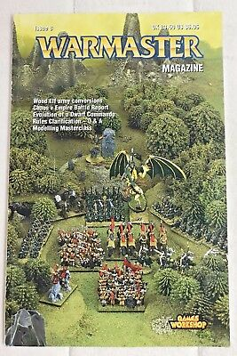 Warmaster Magazine Issue 8, Games Workshop, 2001, RARE, OOP, Wood Elfs, Chaos
